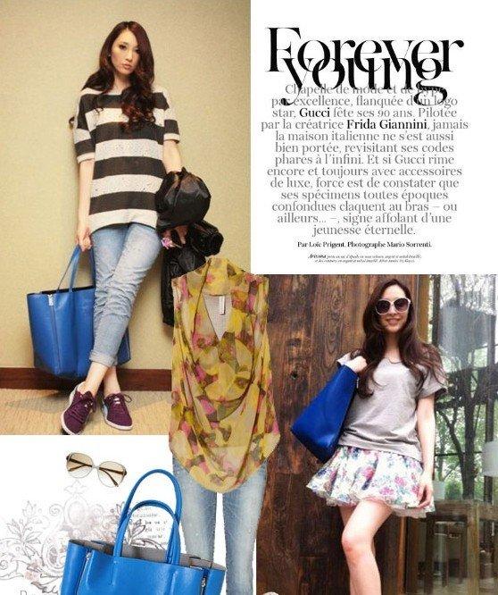 ritto韓版熱賣流行時尚雙拉鏈真皮包