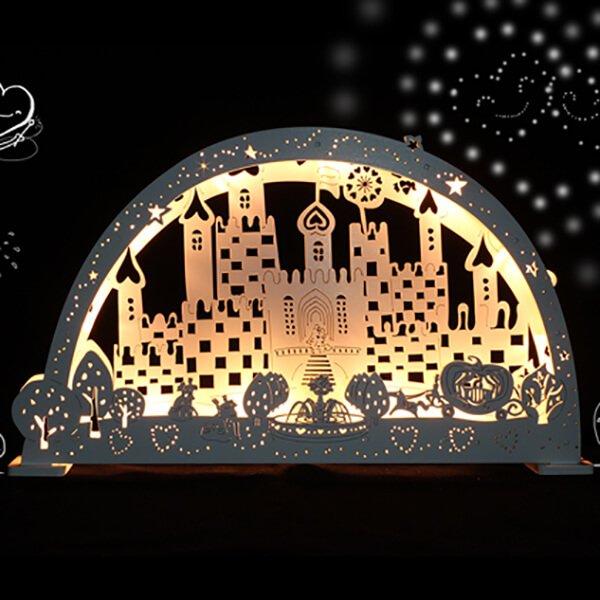 菓森林童話城堡 LED夜燈