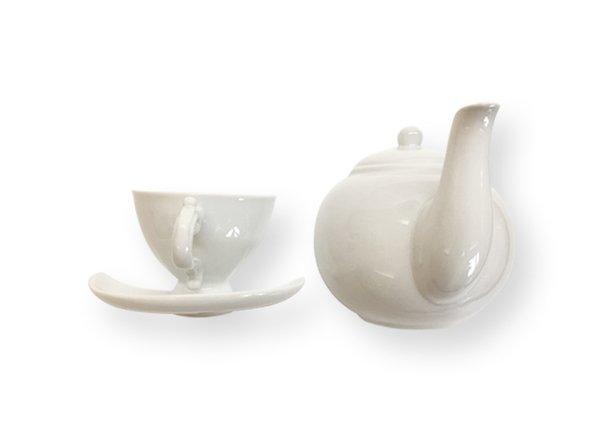 我家就是咖啡館 維多利亞風茶壺 杯盤掛勾兩件組