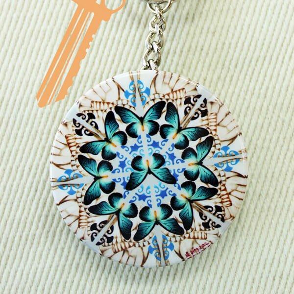 化妝鏡鑰匙圈-福疊台灣5