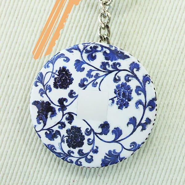 化妝鏡鑰匙圈-青花瓷