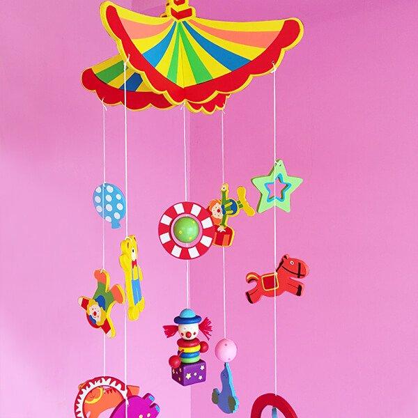 木製馬戲團吊飾❤ 感恩節、聖誕節、生日禮、新居禮