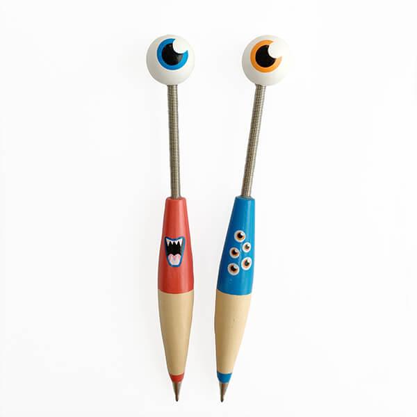 紅眼球+藍眼球外星寶寶原子筆情侶組❤ 紀念日、聖誕節、生日禮、婚禮小物