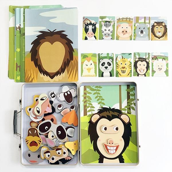 帶著動物旅行去!-手提鐵盒,磁鐵動物組❤兒童節、紀念日、聖誕節、生日禮