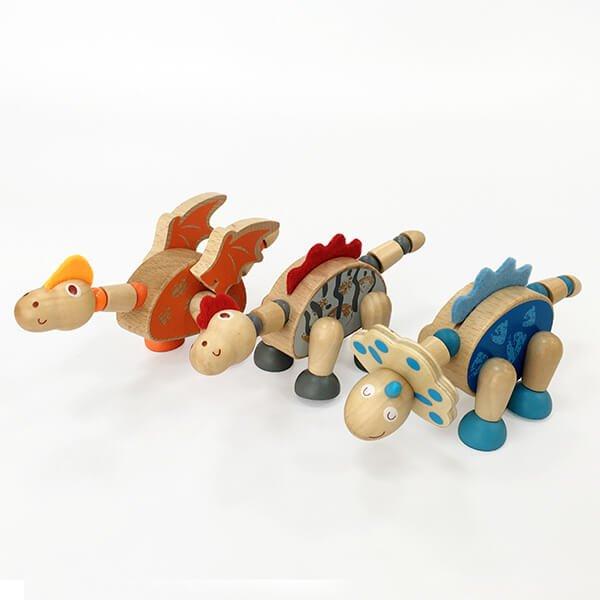 木製冒險小恐龍-三入A款❤ 感恩節、聖誕節、生日禮(完售)