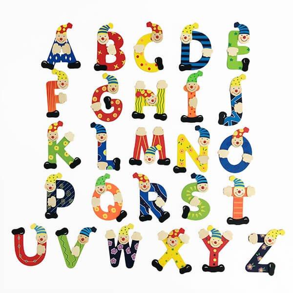 木製小丑英文字母片組(26入)❤  感恩節、聖誕節、生日禮