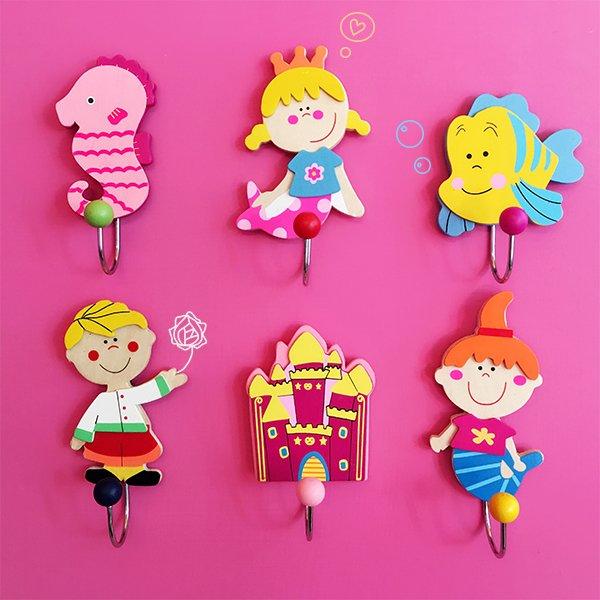童話風人魚公主王子掛勾六入組❤ 新居、聖誕節、生日禮