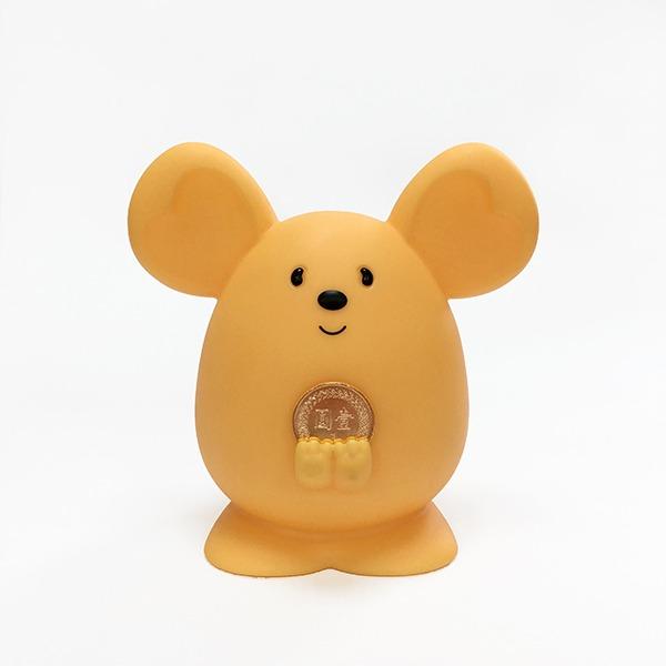 2020 金鼠 Money Mouse吉米鼠 撲滿 存錢筒 擺飾(起司黃)