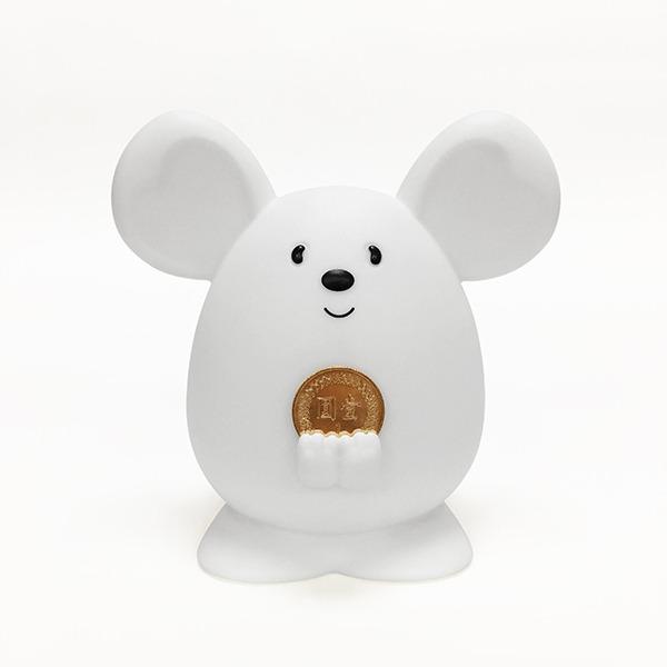 2020 金鼠 Money Mouse吉米鼠 撲滿 存錢筒 擺飾 (雲朵白)【已售完】