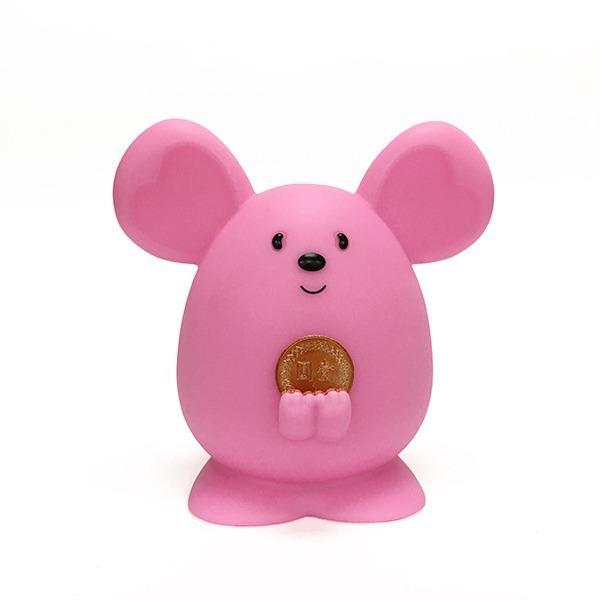 2020 金鼠 Money Mouse吉米鼠 撲滿 存錢筒 擺飾 (莓果粉)