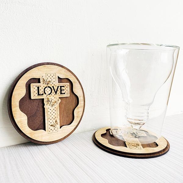 十架之愛 杯墊 福音禮品