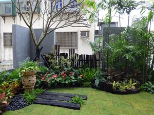 營造峇里島休閒風格的空中花園
