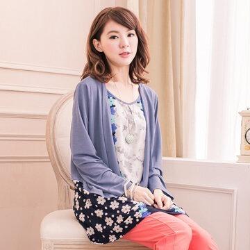 §獨具衣格§日本大阪直送G6637多款多色印花假兩件式長版上衣
