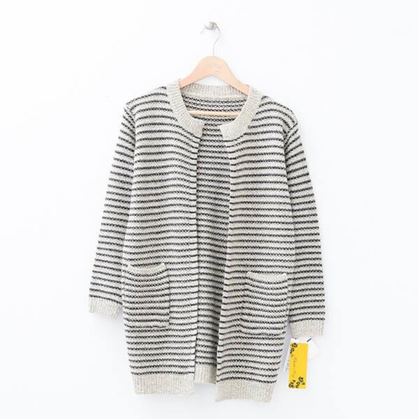 §獨具衣格§ 日本直送 2076 配條針織外套樣本