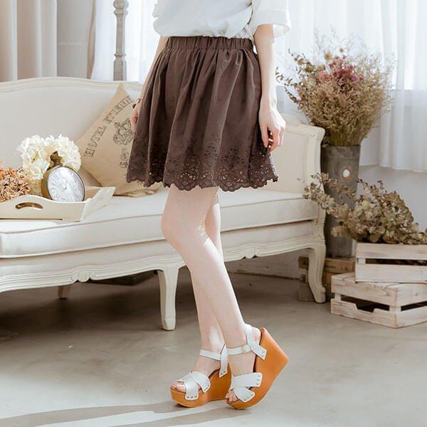 §獨具衣格§ G8649蕾絲褲裙