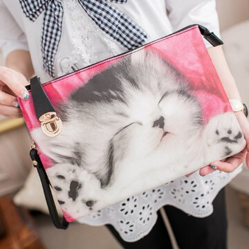 §獨具衣格§日本大阪直送H043睡覺貓手拿包側背包