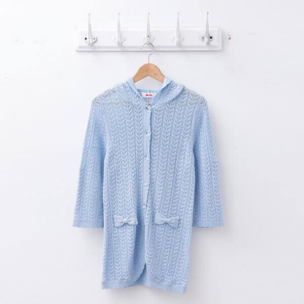 §獨具衣格§ 日本直送 2114 H2O 專櫃款 空花長版針織外套樣本