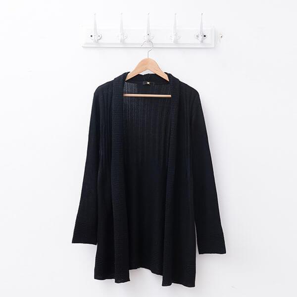 §獨具衣格§ 日本直送 2117 日本製 羊毛 直紋針織外套樣本