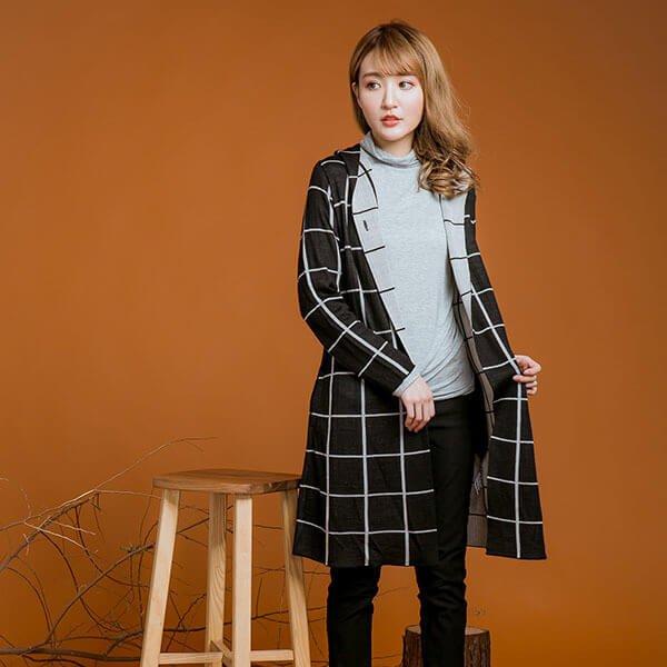§獨具衣格§ 日本直送 2136 羊毛 格紋質感針織外套樣本