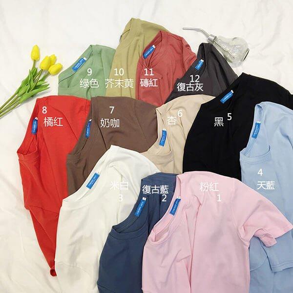 §獨具衣格§ J1497 高棉質超狂12色寬版素色T桖-大尺碼