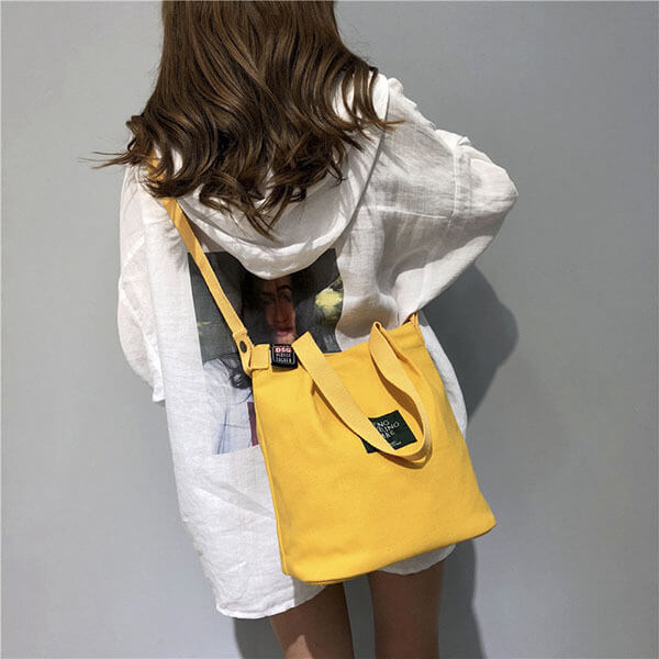 §獨具衣格§ H424 韓系 帆布側背包手提包