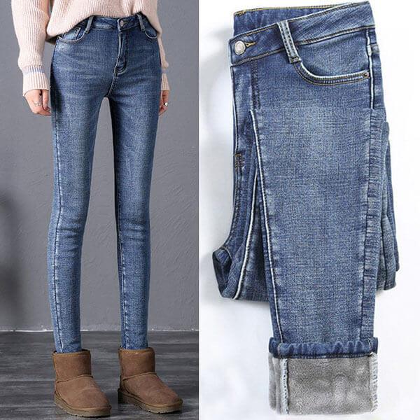§獨具衣格§ J1103 內刷毛 顯瘦彈性牛仔褲