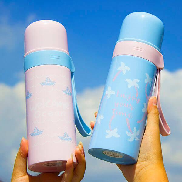 §獨具衣格§ H450 日系女孩風保溫瓶(350ml)