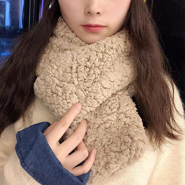 §獨具衣格§ H452 羊羔絨韓系女孩圍脖