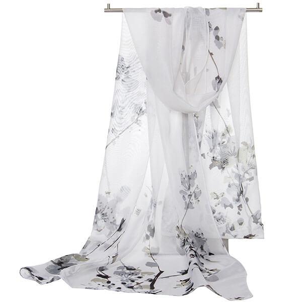 §獨具衣格§ H473 雪紡 四季唯美印花絲巾圍巾 遮陽
