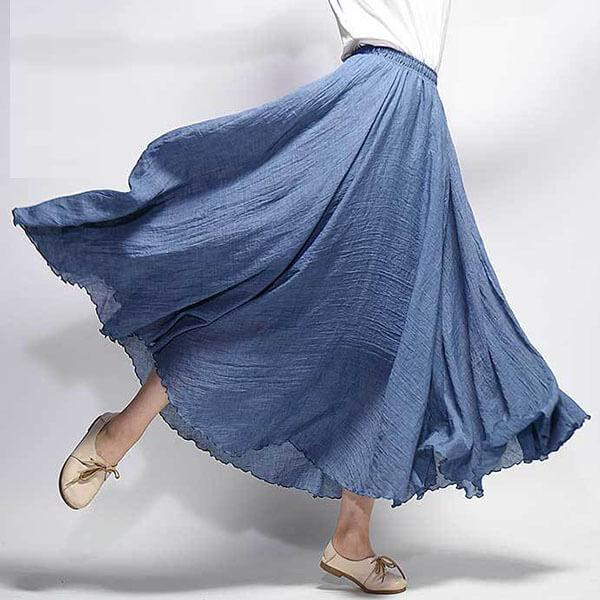 §獨具衣格§ J1875 棉麻 仙女飄逸感裙子