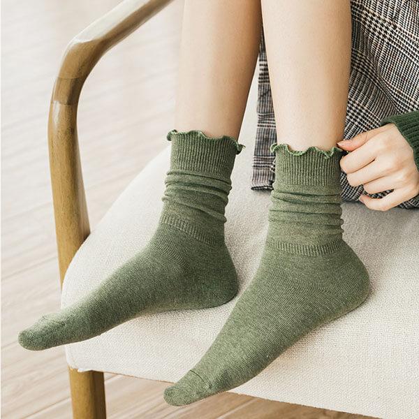 木耳邊推推襪子 H520 (3雙一組)