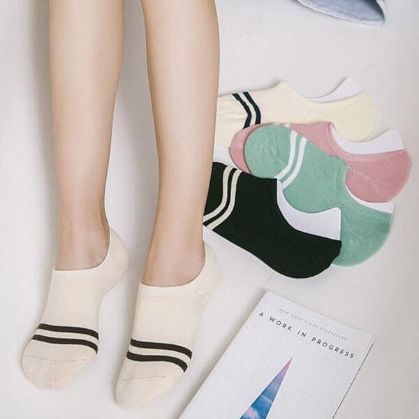 雙條隱形襪(5雙入) H534 獨具衣格