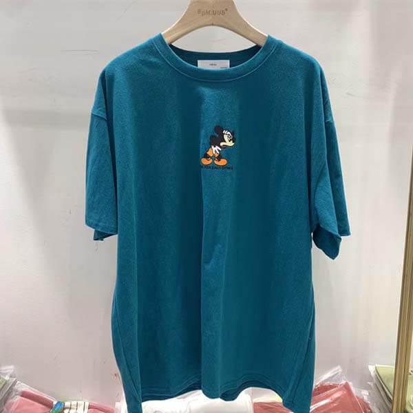 卡通老鼠印花T桖上衣-大尺碼 獨具衣格 J2718