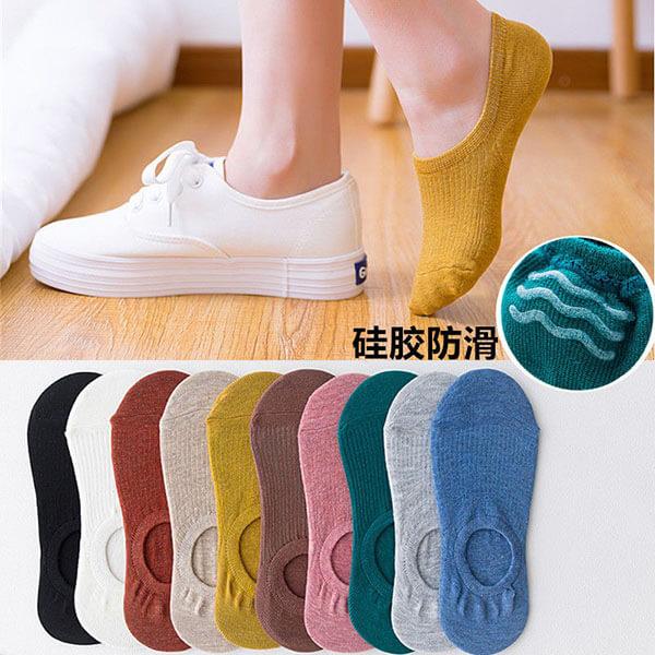 素面螺紋淺口短襪(5雙入) 獨具衣格 H562