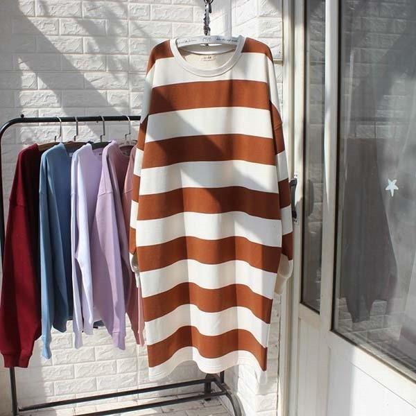 韓系配條顯瘦剪裁洋裝-大尺碼 獨具衣格 J3271