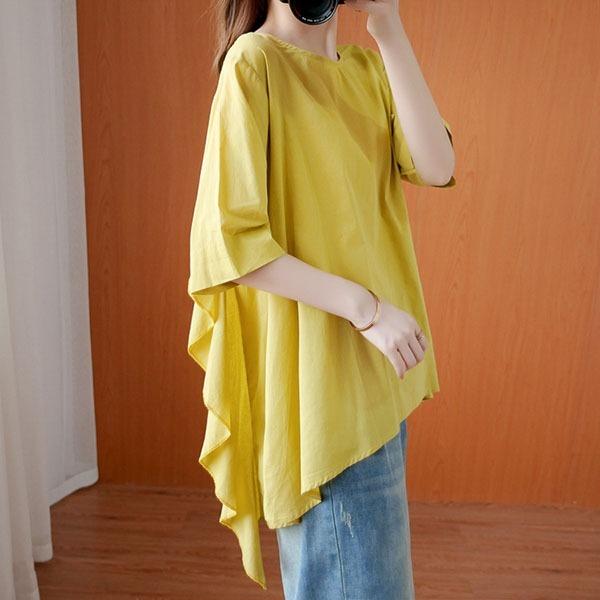 素雅波浪造型顯瘦上衣-中大尺碼 獨具衣格 J3565