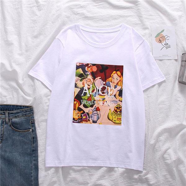 牛奶絲卡通印花T桖上衣 獨具衣格 J3659