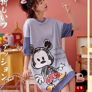 J3743 棉質卡通印花家居服洋裝-中大尺碼 獨具衣格 J3743