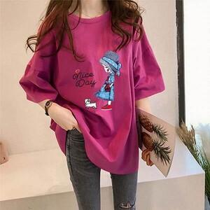 牛奶絲女孩小貓印花上衣-大尺碼 獨具衣格 獨具衣格 J3744