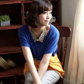§獨具衣格§ -韓國製-俏皮撞色針織上衣(169)