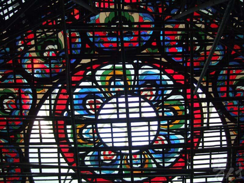 藝術玻璃-中台禪寺博物鑲嵌玻璃藻井
