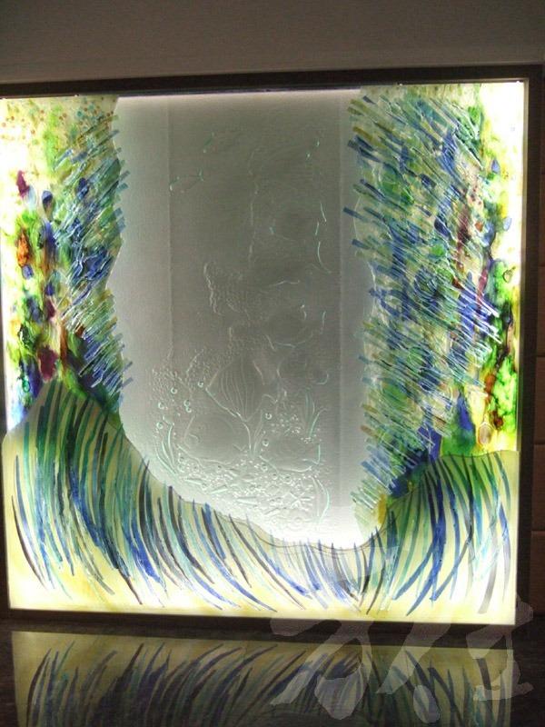藝術玻璃-窯燒浮雕創作 海之禮讚