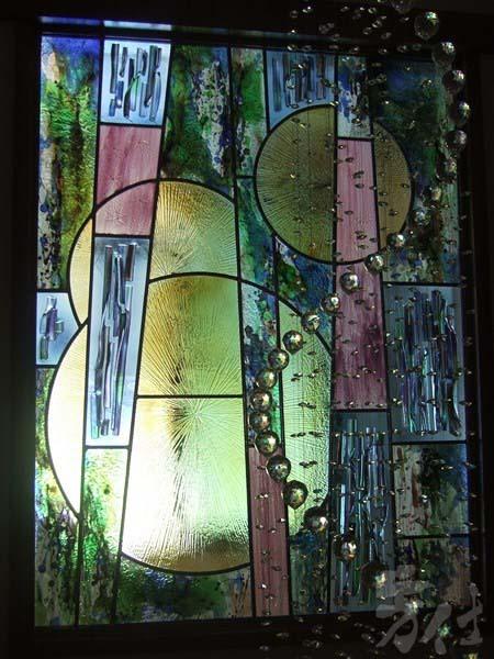 藝術玻璃-鑲嵌結合窯燒琉璃