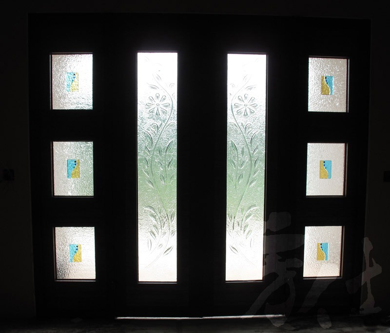 藝術玻璃-窯燒浮雕創作 蔓草