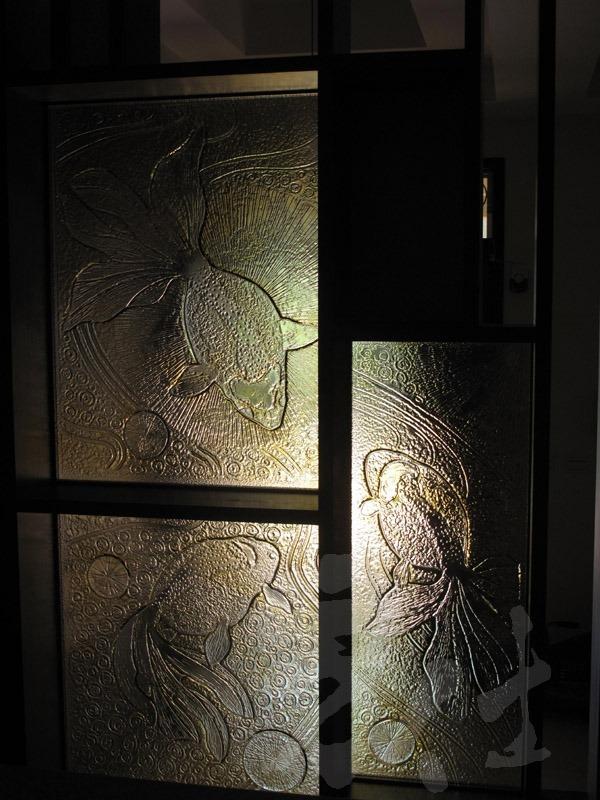 藝術玻璃-窯燒浮雕創作 金魚