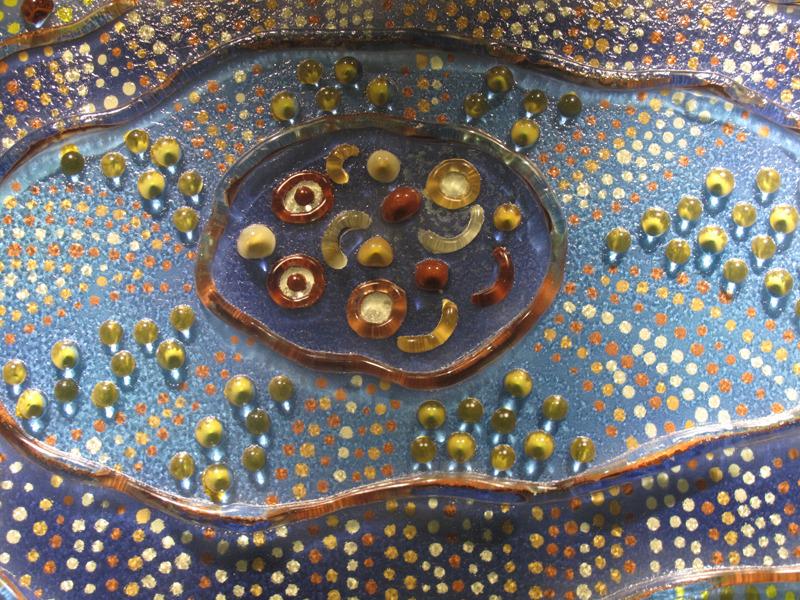 藝術玻璃 窯燒浮雕創作-點點的律動