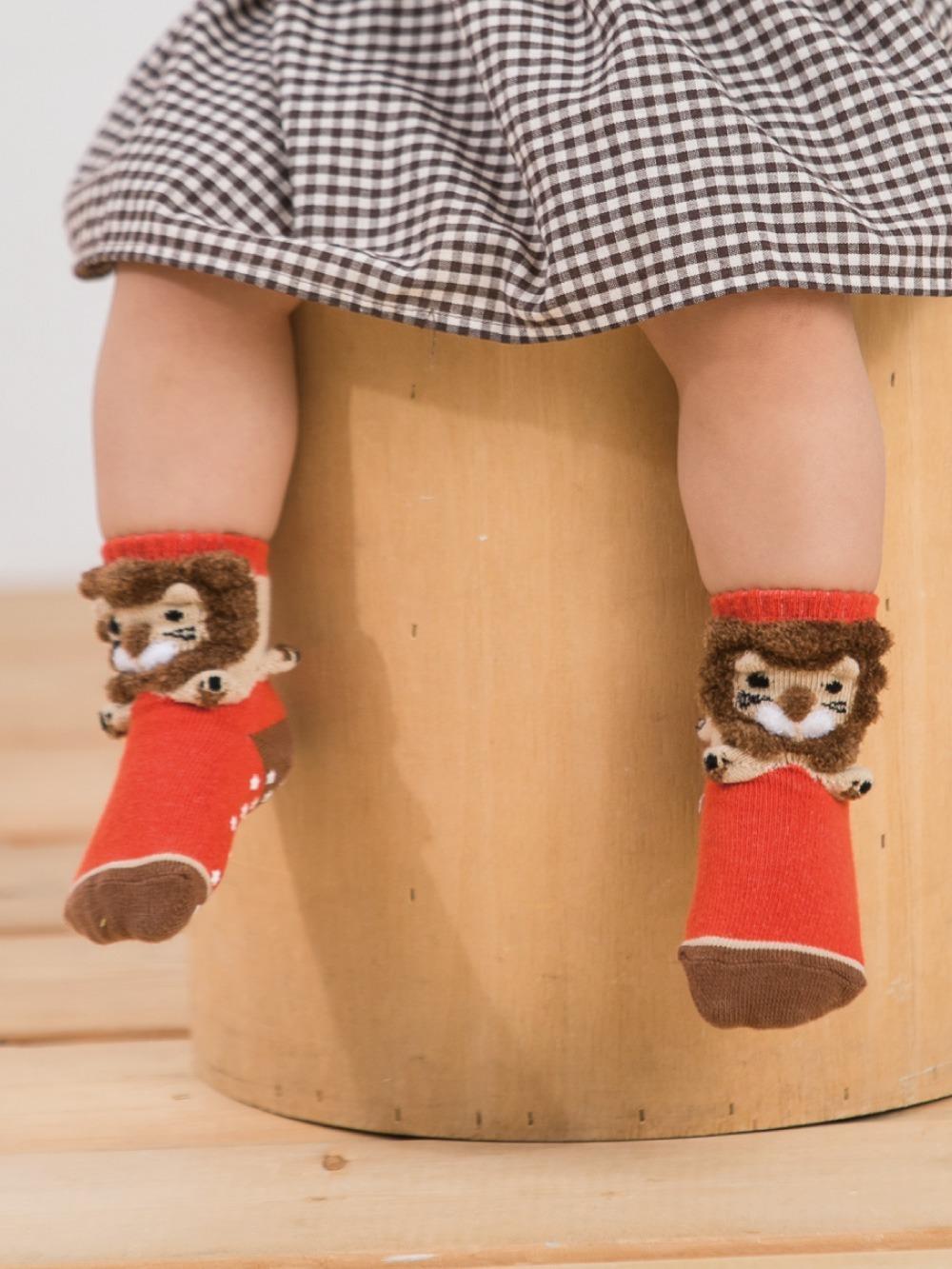 貝寶3D公仔襪-小獅子