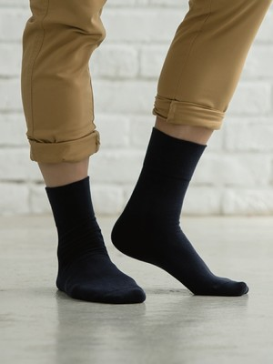 (單雙)(男)Supima抗菌萊卡除臭襪-紳士寬口短襪