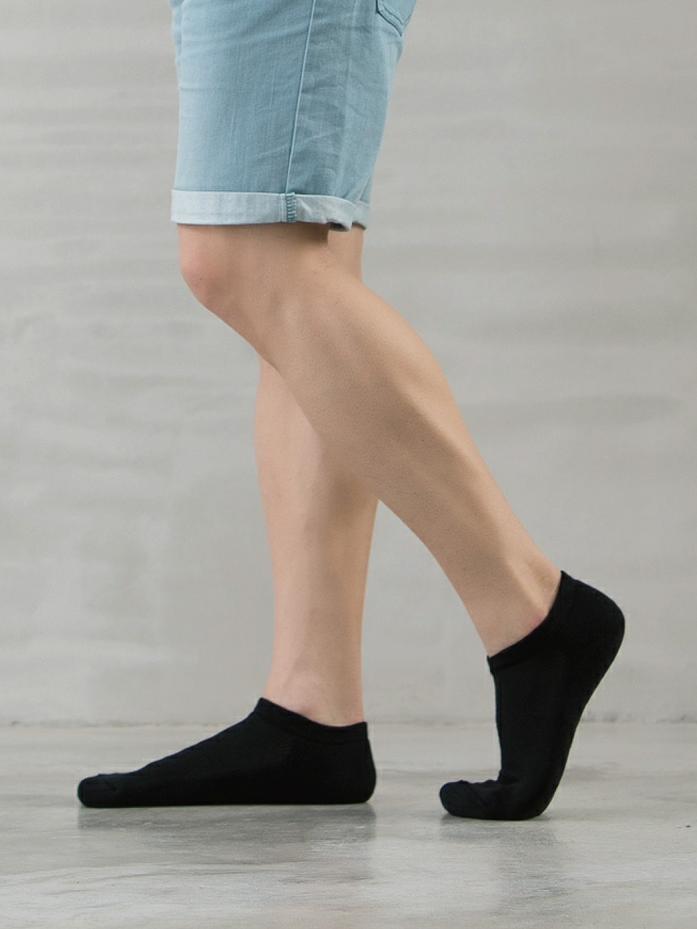 (單雙)(男)機能抗菌萊卡除臭襪-船型氣墊襪