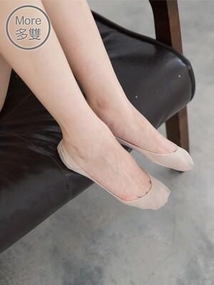貝柔(6雙)一體成型0束痕吸濕速乾止滑襪套-淺口娃娃鞋